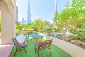 Unique 2 BR | Private Garden | Burj View