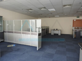 Semi furnished with partitions office.