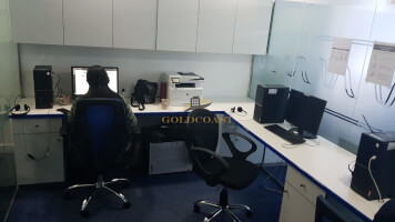 Fully fitted w/ glass partitioned office for sale